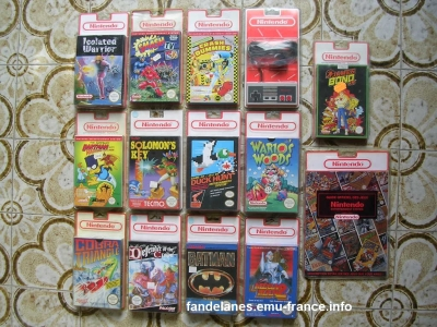 collection jeux nes neuf sous blister