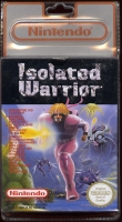 isolated warrior sous blister recto nintendo nes